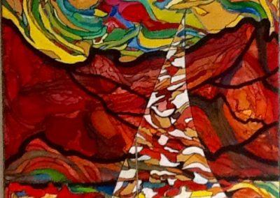 Bateau ivre Acrylique sur toile (100x80)