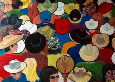 La foule Huile sur toile (120x100)