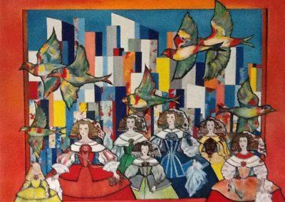 Rêves de liberté  Huile sur toile. (120x110)