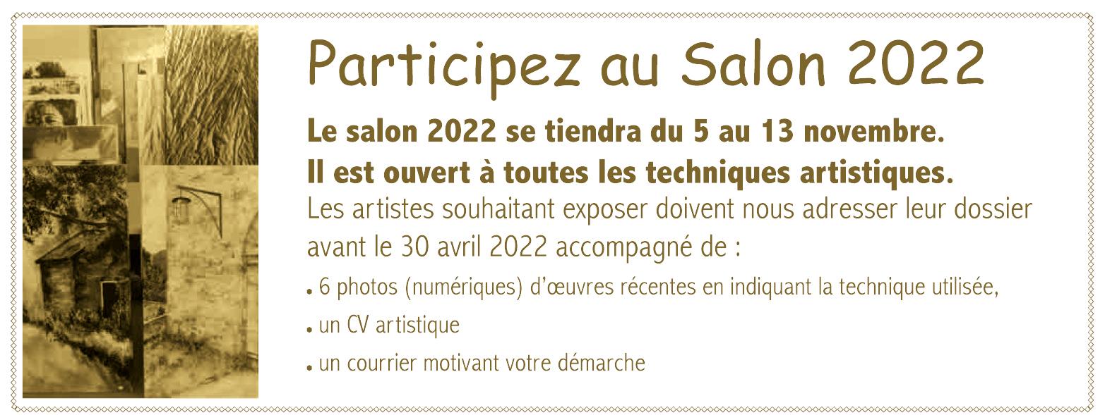 Inscription au salon 2022